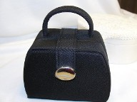 Jabberjewelry.com Black mini purse travel jewelry bag case