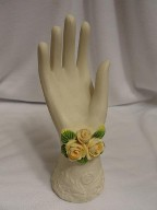 Jabberjewelry.com Vintage Ceramic hand Ring & Necklace Holder