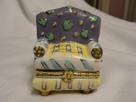 Hand Painted Chair Jewelry Trinket Box
