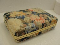 Vintage Floral Jewelry Travel Case