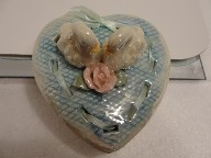 New Two Swans Heart Trinket Box