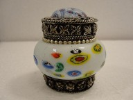 Vintage Round Jewelry Jar Trinket Box