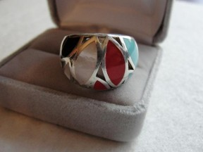 Jabberjewelry.com Multi Gemstone Silver Large Ring