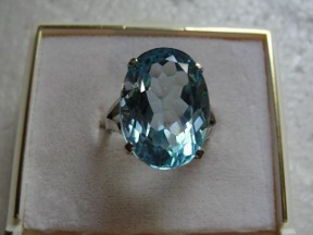 Jabberjewelry.com Large Sky Blue Topaz White Gold Ring