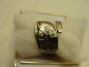 Jabberjewelry.com Antique Grants Farm Clydesdale Silver Spoon Ring