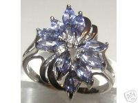 Jabberjewelry.com Tanzanite White Gold Ring