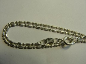 Jabberjewelry.com Silver Fancy Bead And Bar Chain Necklace