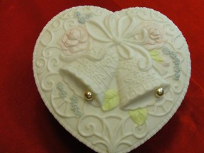 Wedding Bells Heart Trinket Box