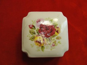 Jabberjewelry.com Hand Painted Square Jewelry Trinket Box