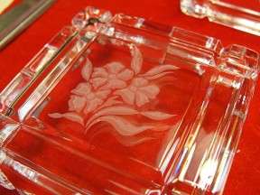 Puzzle Square Glass Trinket Box