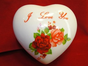 I Love You Heart Jewelry Trinket Box