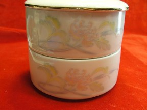 Pastel Floral Double Stack Trinket Box