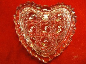 Small Heart Trinket Box Leaded Crystal