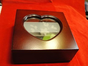 Jabberjewelry.com Wooden Heart Square Jewelry Box