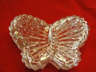 Jabberjewelry.com Leaded Crystal Glass Butterfly Trinket Jewelry Box