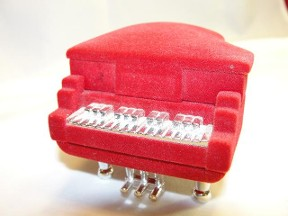 Baby grand piano jewelry trinket box