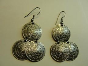 Jabberjewelry.com Vintage Coin Dangle Earrings