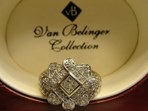 Jabberjewelry.com Vintage Berlinger White Gold  Diamond Ring