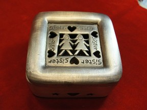Stainless Steel Sisters Trinket Box