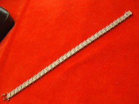 Jabberjewelry.com 2 Ct's Multi Diamond White Gold Tennis Bracelet