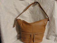 MAXX NEW YORK Pebble Leather Pouch Bucket Bag Purse